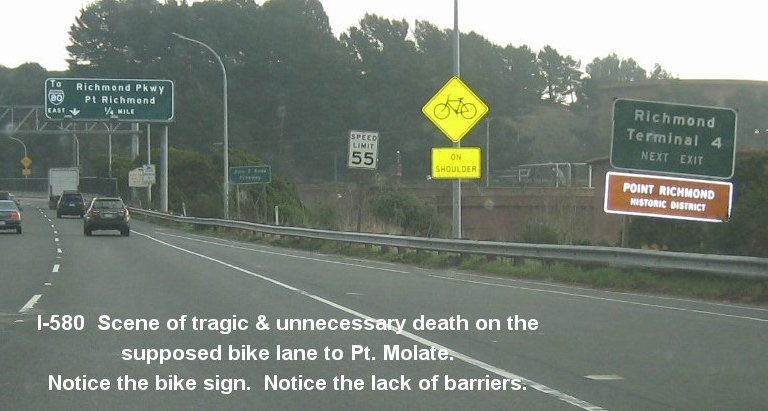 I-580 fatal bicycle accident